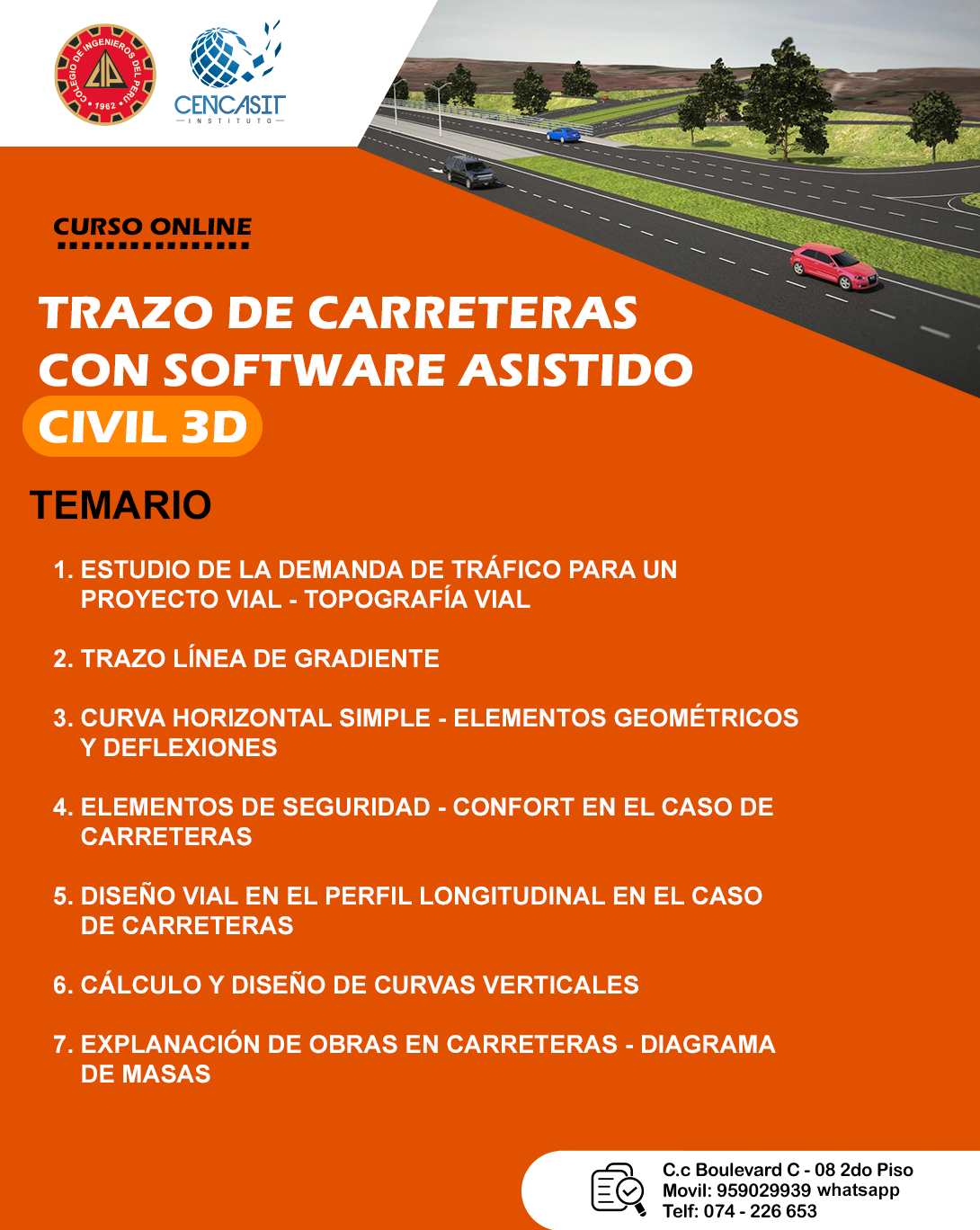TRAZO DE CARRETERAS CON SOFTWARE ASISTIDO CIVIL 3D